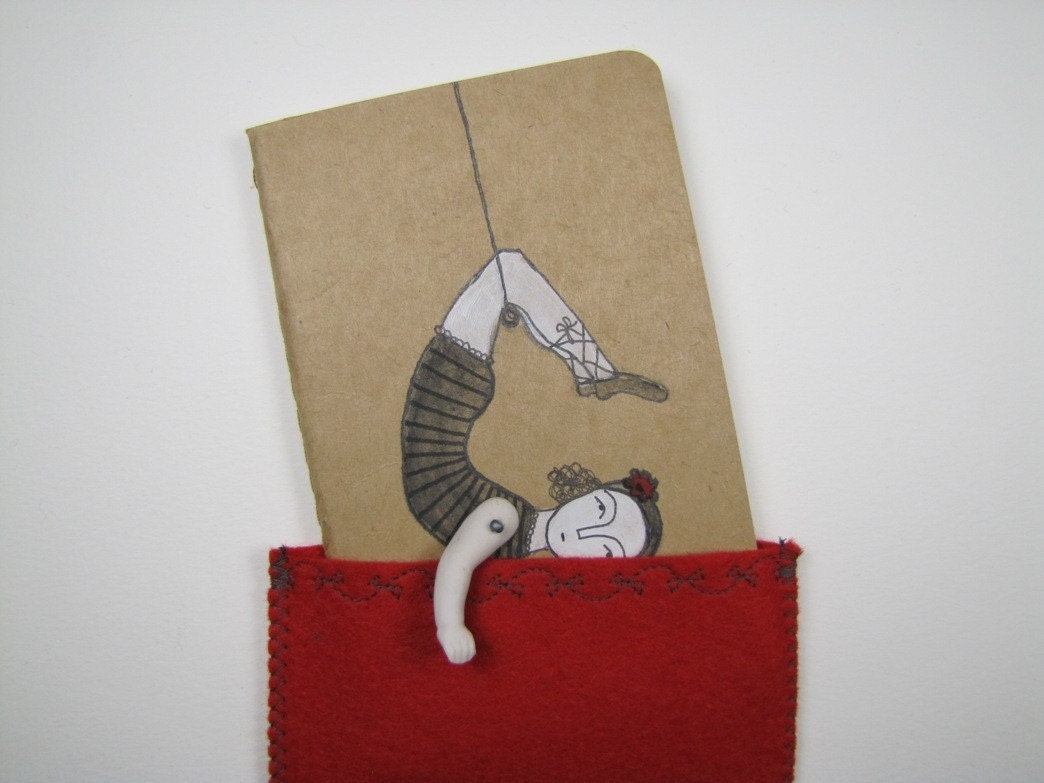 Daring Young Girl-Blank Moleskine Cahier Journal