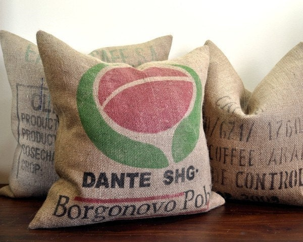 Dante - Burlap Coffee Bag Pillow