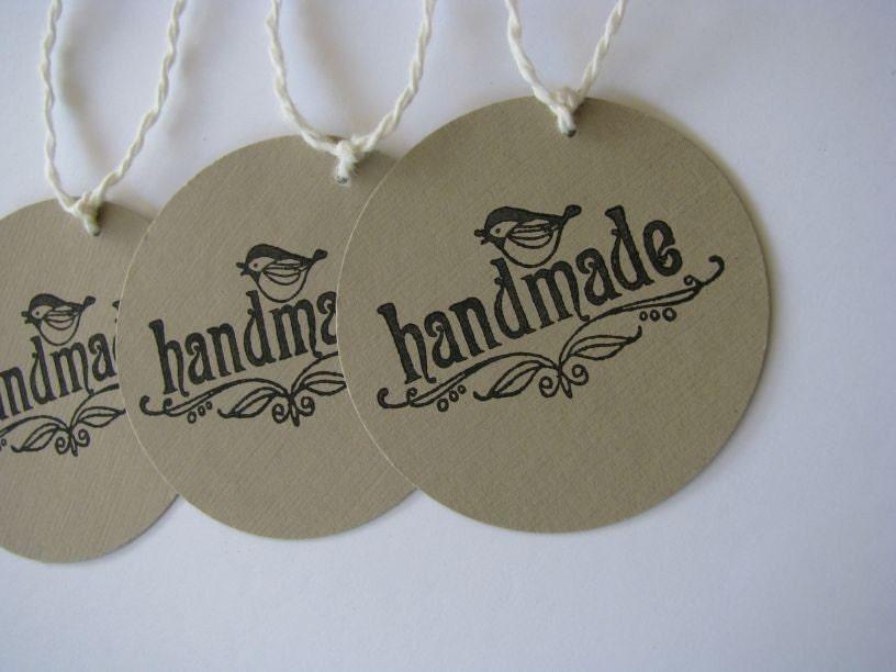 Brown Paper Tags - handmade birdies