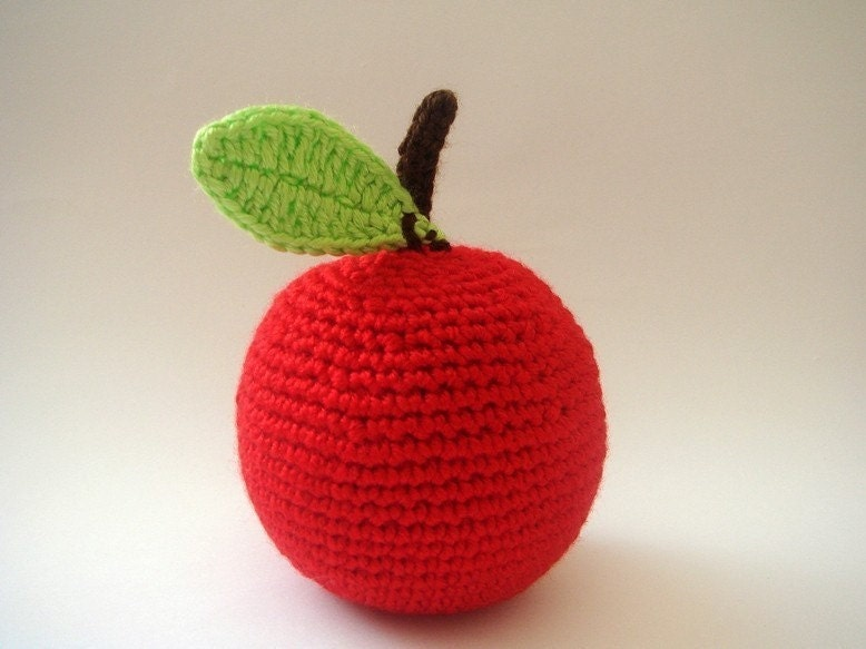 Amigurumi crocheted Apple