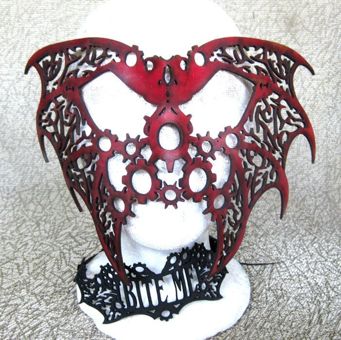 Dragon Fantasy/Steampunk Leather Mask (design 1) - 2 masks in one