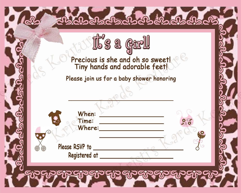 Cheetah Print Baby Shower Invitations was best invitation layout