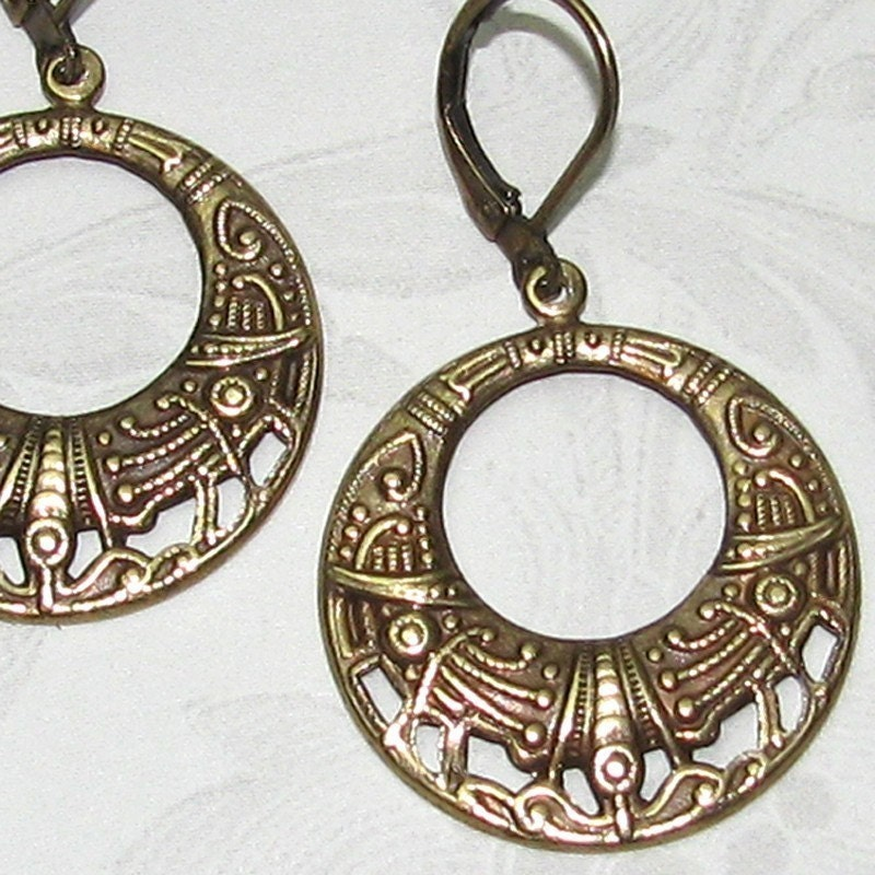 Egyptian Revival Hoops - Your Choice