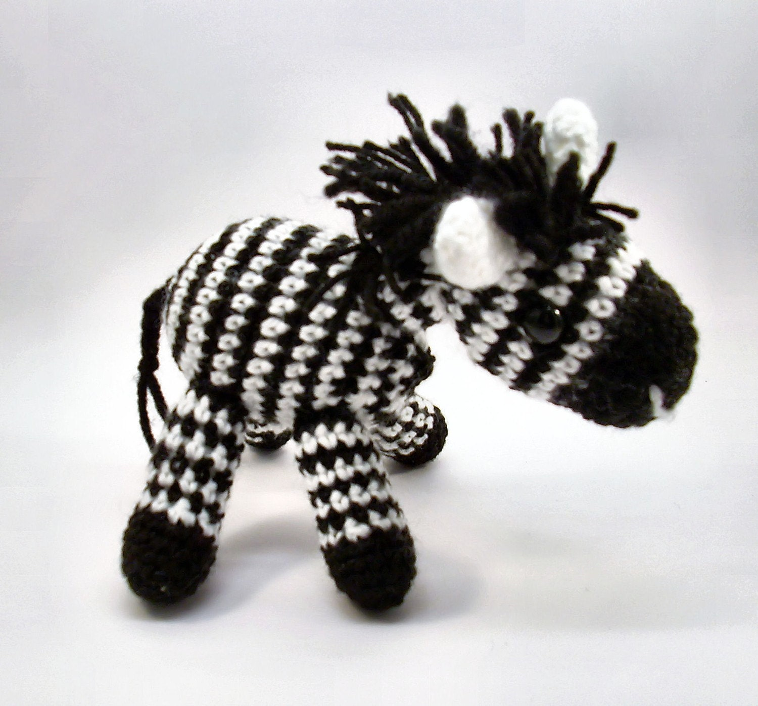 Crochet Zebra : Zuzu the Zebra Hand crocheted striped amigurumi zebra by jarg0n ...