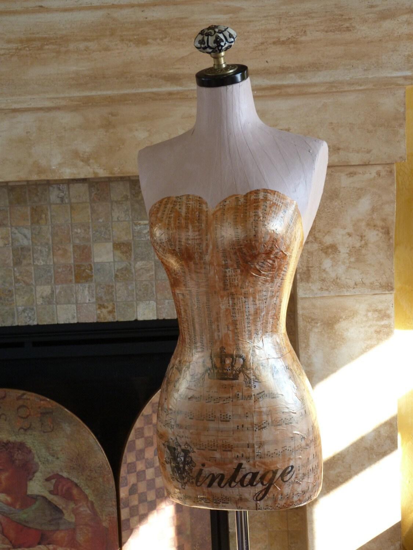 items similar to vintage couture dress form mannequin. Black Bedroom Furniture Sets. Home Design Ideas