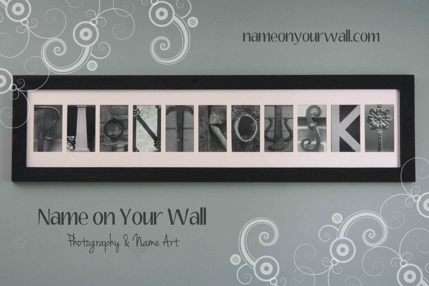 11 Letters Personalized Framed And Matted Name By