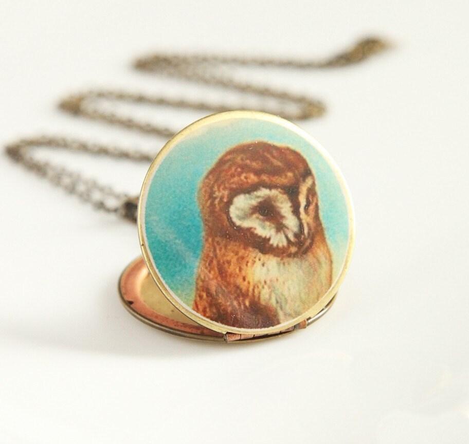 Owly Locket - Vintage