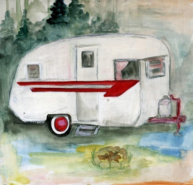Camping - Original Art - Print