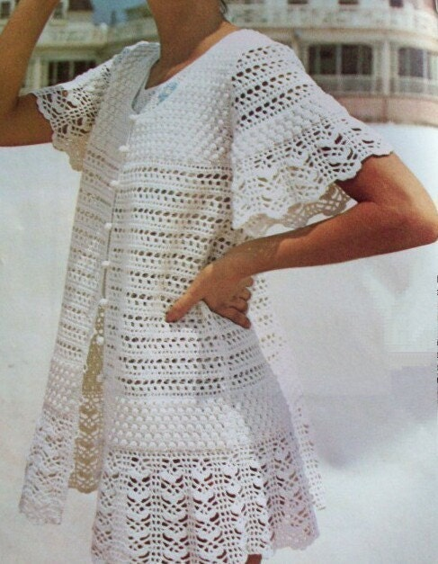 Crochet Cover Up : Crochet Pattern Cover Up----- Frothy Lacey Beauty PDF-----Instant ...