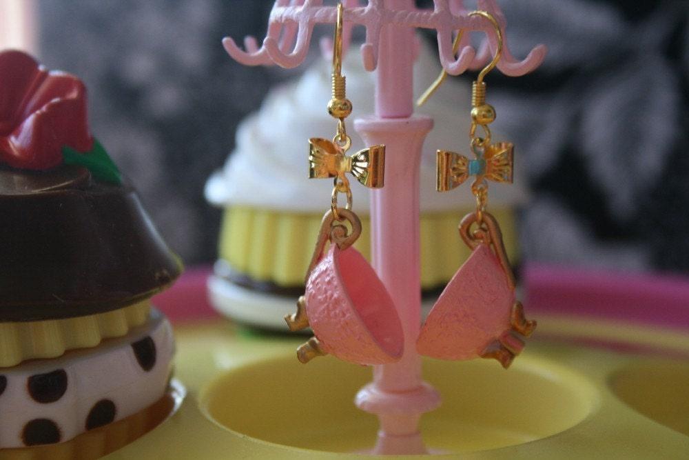 Princess teacup earrings