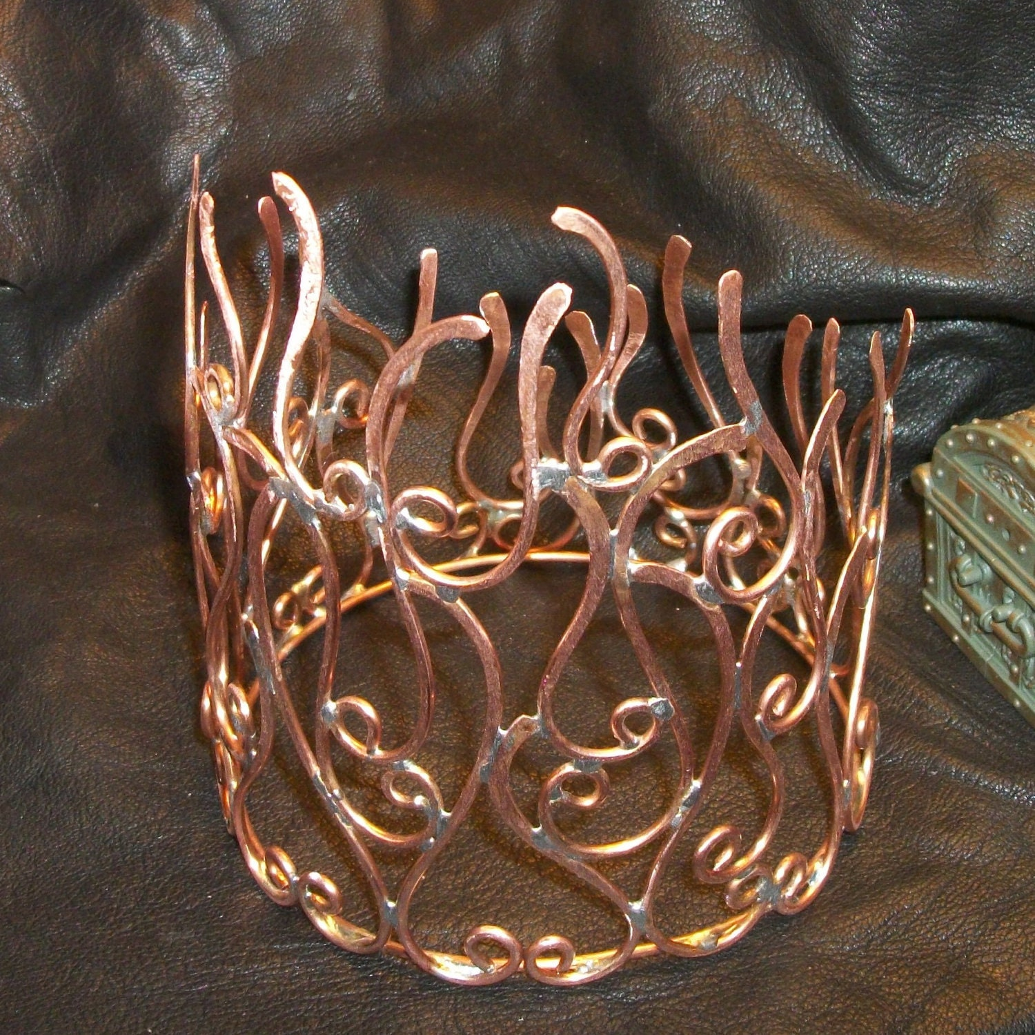 Copper Fire Crown Tiara Handmade by WickedlyWired on Etsy