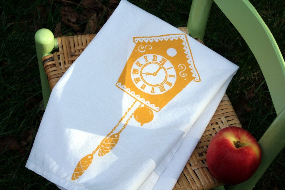 Cuckoo for You. Cuckoo Clock Tea Towel.