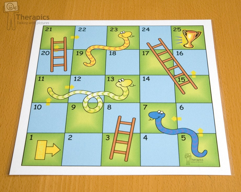 Therapics Snakes and Ladders printable by Therapics on Etsy