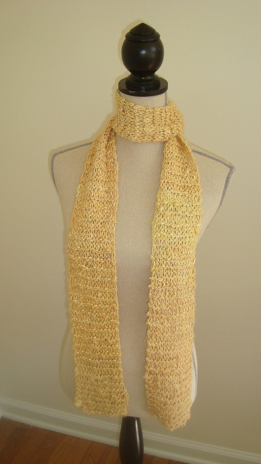 Light Yellow Banana Silk Scarf