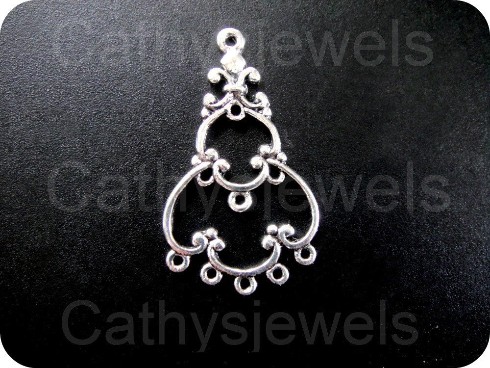 Chandelier  Jewelry Connector Ten Pieces - Cathysjewels
