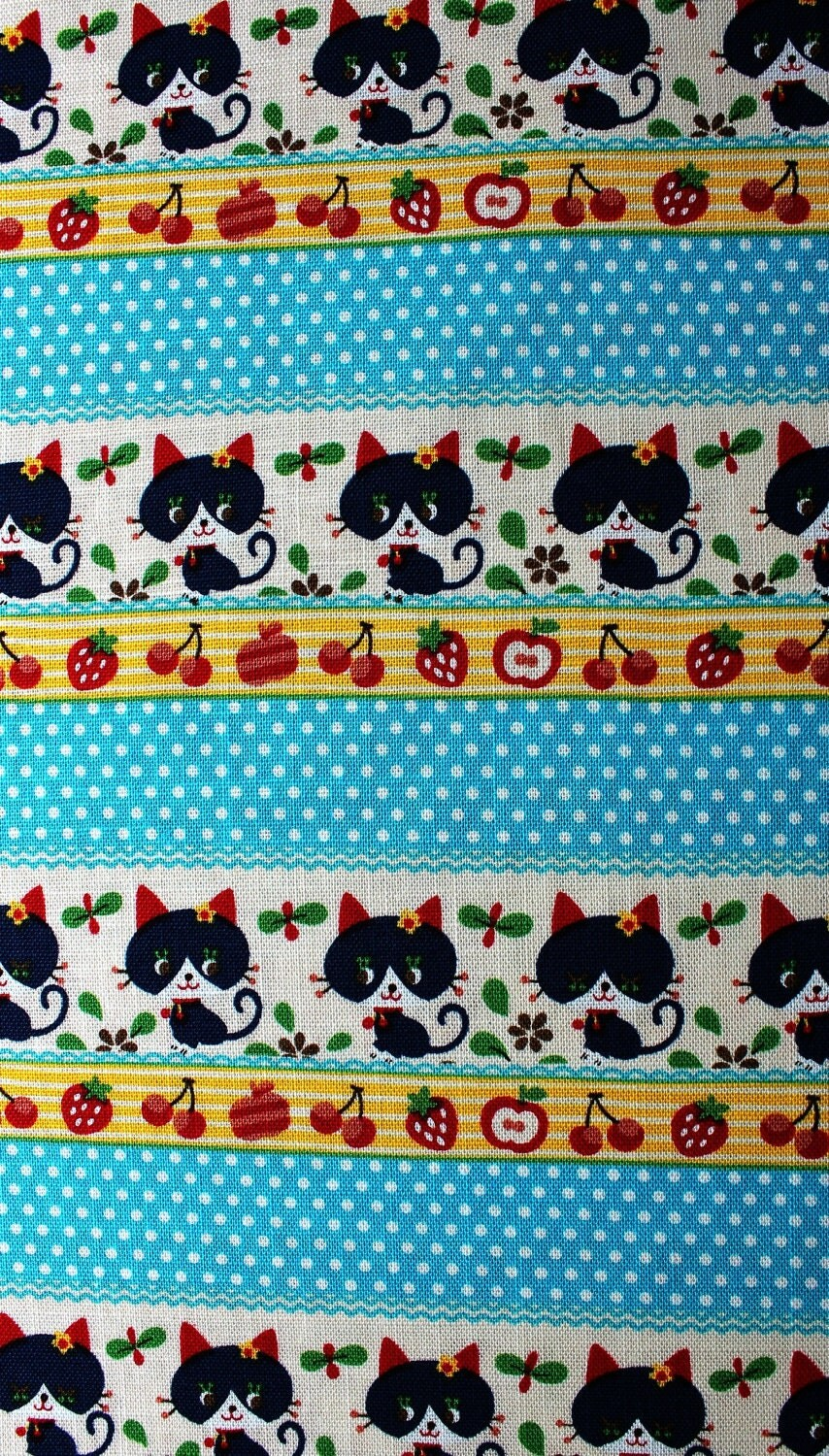 Retro Cat - Kokka Japanese Fabric