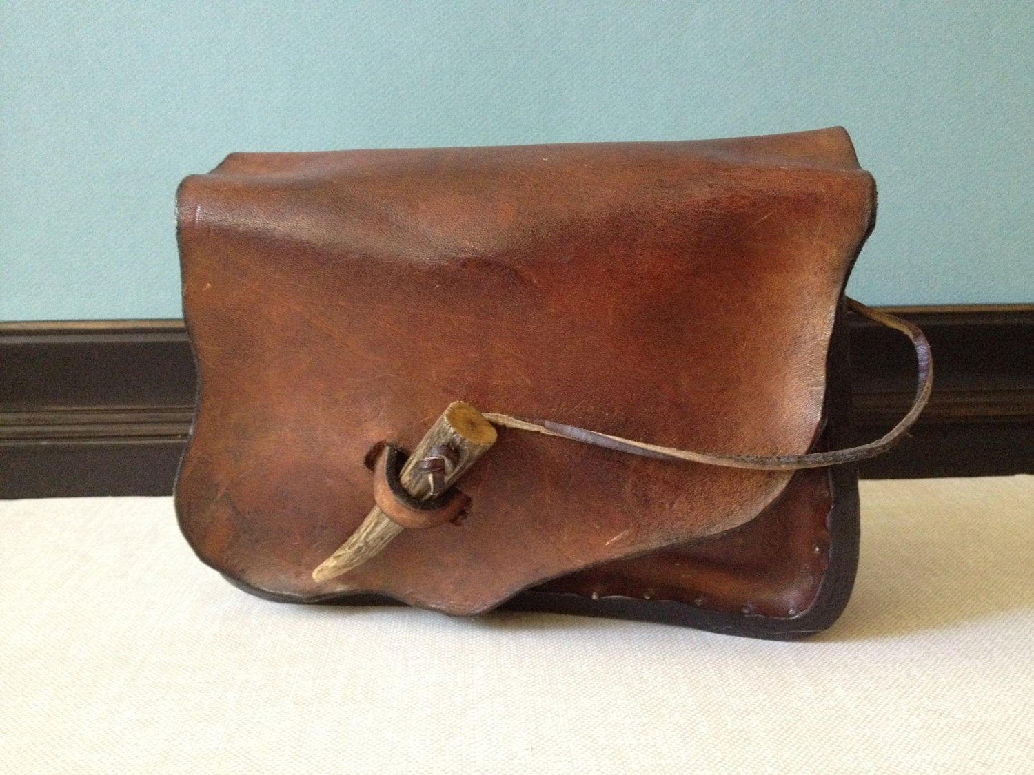handmade leather hip bag belt pouch by jansvintagestuff