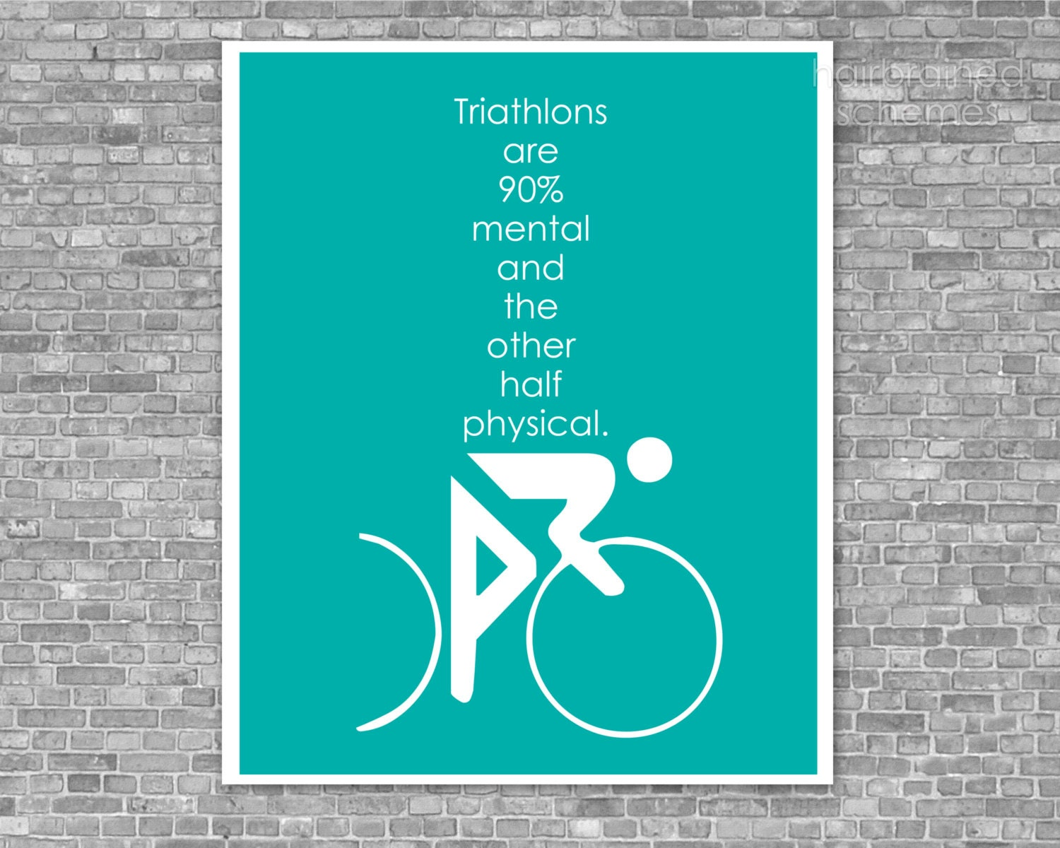 Fitness Poster - Funny Triathlon Digital Art Print - Swim Bike Run ...: www.etsy.com/listing/80780340/fitness-poster-funny-triathlon-digital