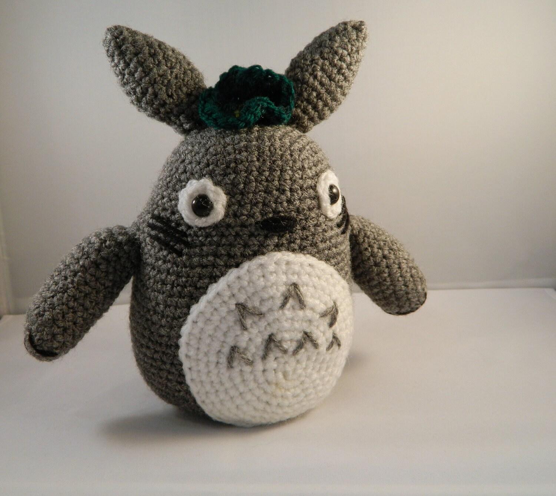Amigurumi Totoro : Items similar to Grey Totoro plush crochet amigurumi ...
