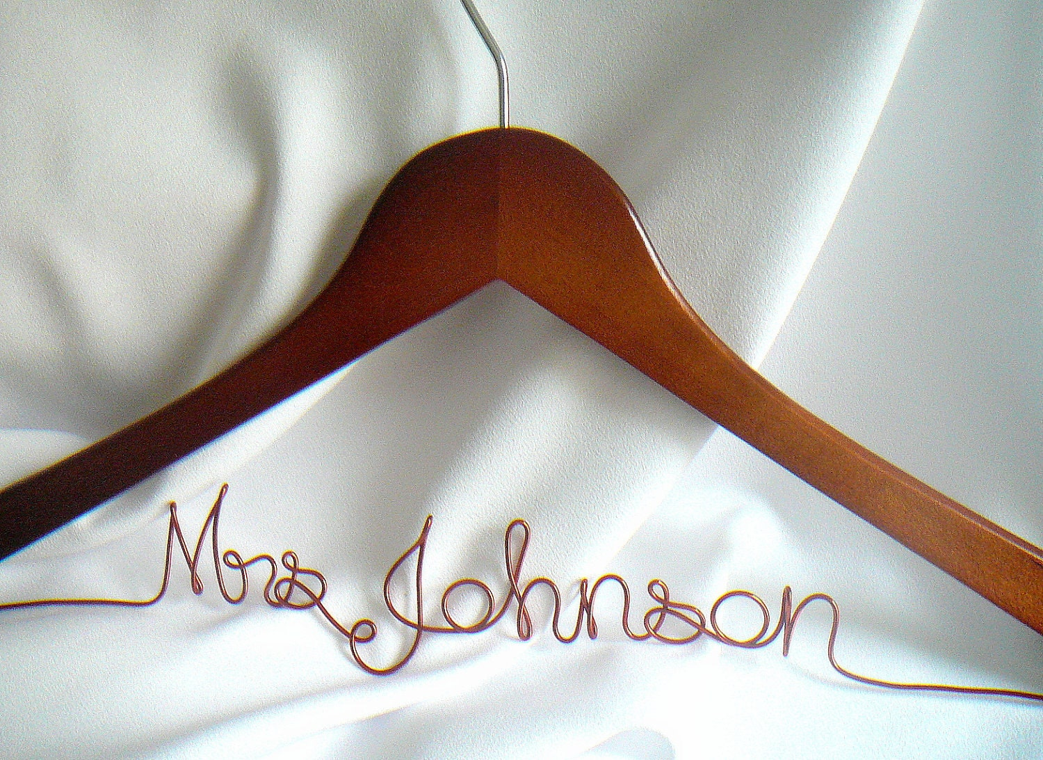 Quality personalized wedding hanger non by homesandweddings for Wedding dress coat hanger