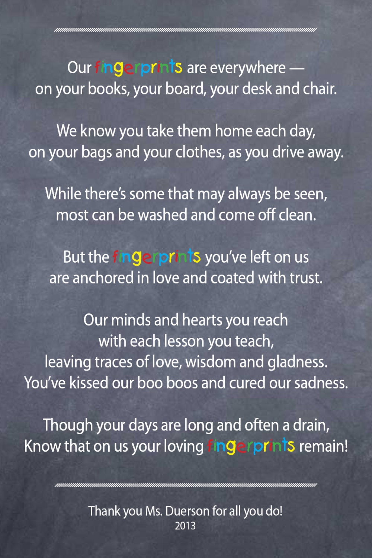 Kindergarten Teacher Appreciation Poems | www.galleryhip.com - The ...