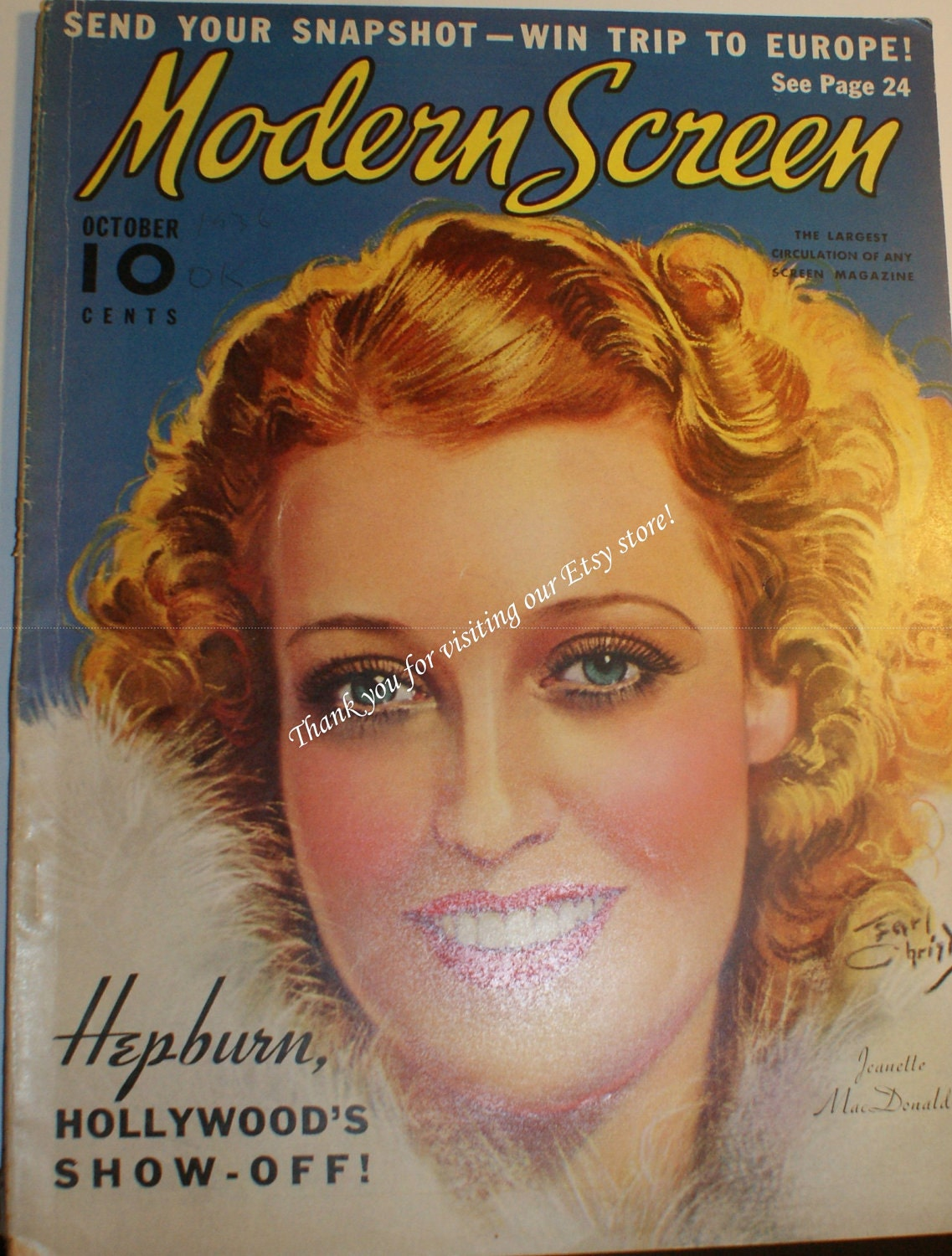 Jeanette MacDonald Cover,