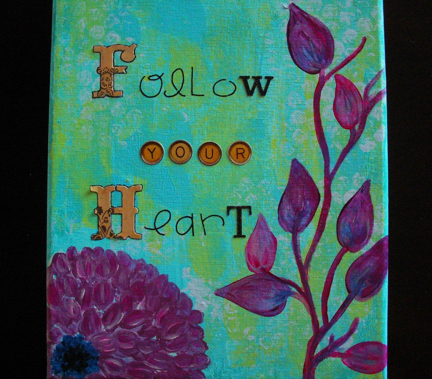 Follow your Heart - Original Painting 8x10 Canvas