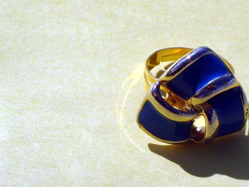 Azure and Gold Ring