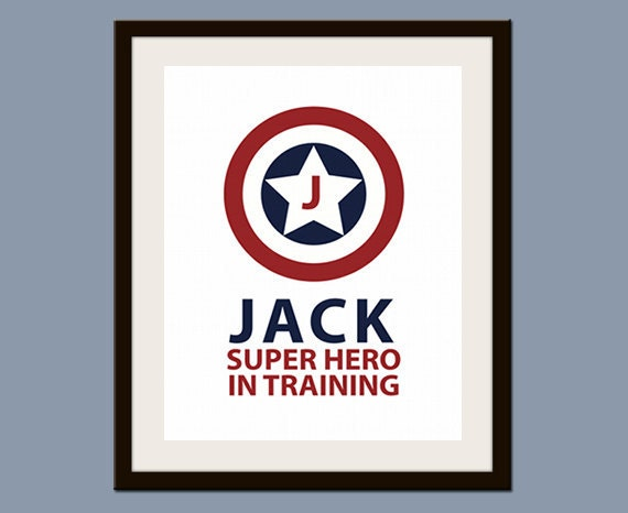 Personalized Superhero in Training Print 8 x 10