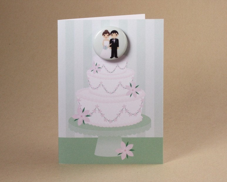 Wedding Cake Gift Card featuring Badge