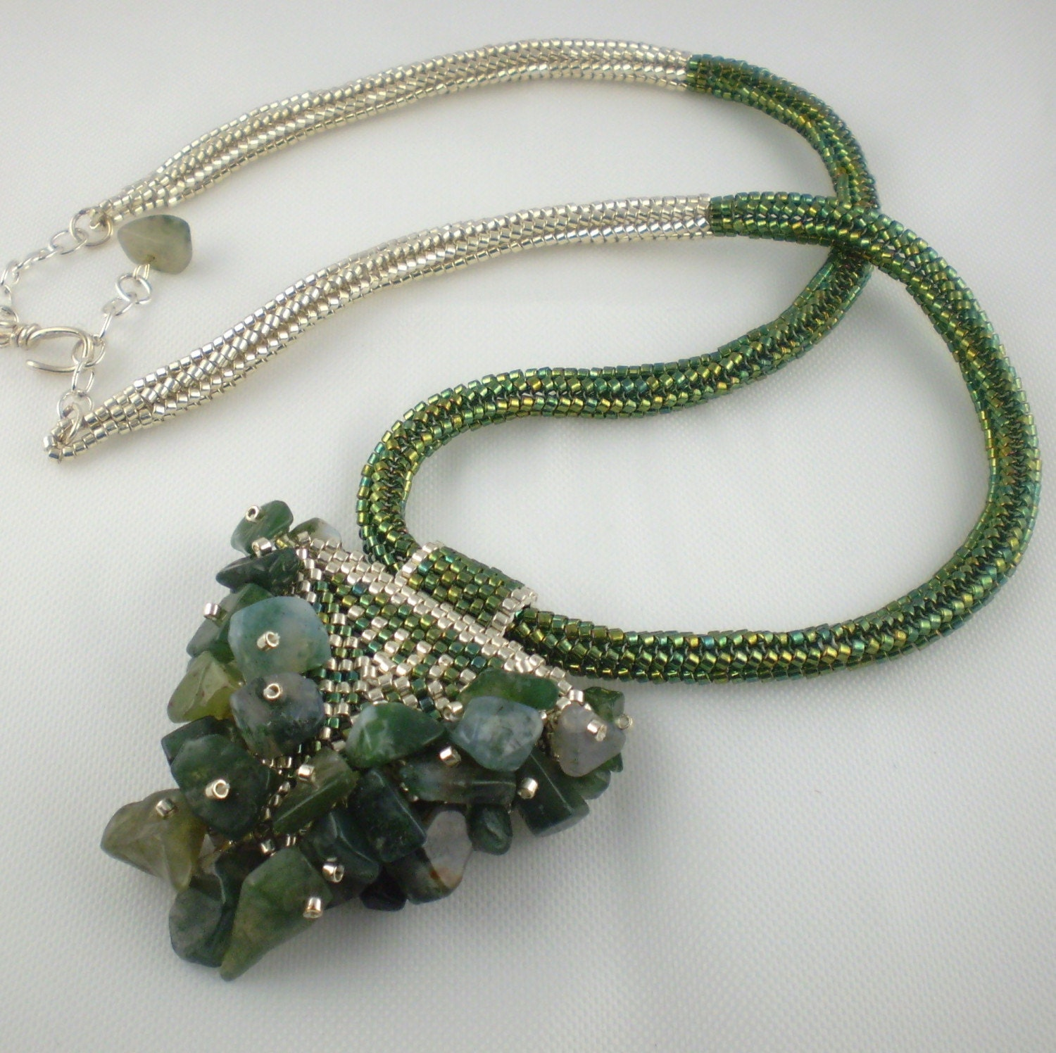 Embellished Green Arrowhead Necklace