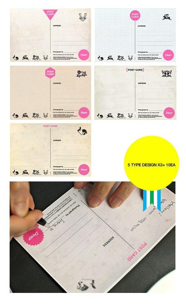 4x6 postcard sticker 5 designs 10sheet