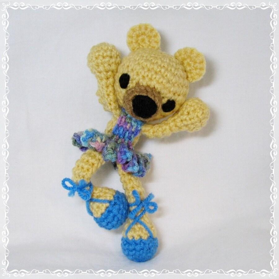 Handmade Amigurumi Chibi Ballerina Bear