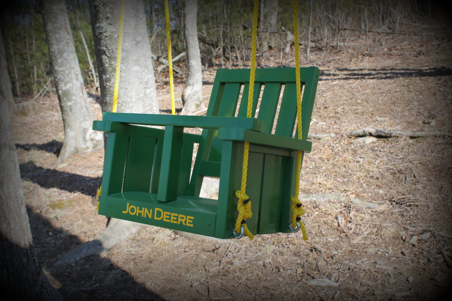 Childs John Deere Solid Wood Painted Swing John By Clemswshop