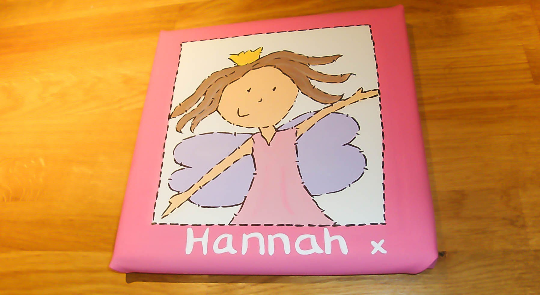 Girls Fairy Princess Name Art Painting Canvas Childrens Bedroom Nursery Wall Art Christening New Baby Gift