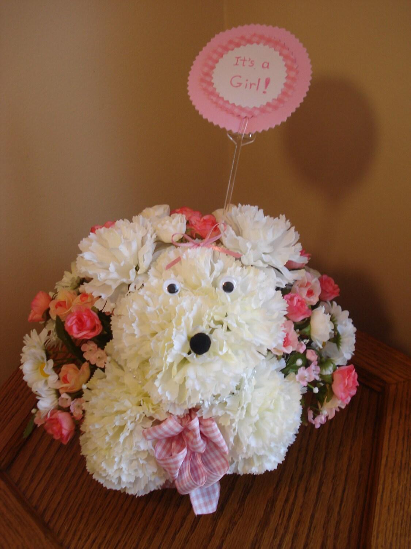 Floral Arrangements For Baby Showers ~ Baby girl nursery flower arrangement shower by hannogram
