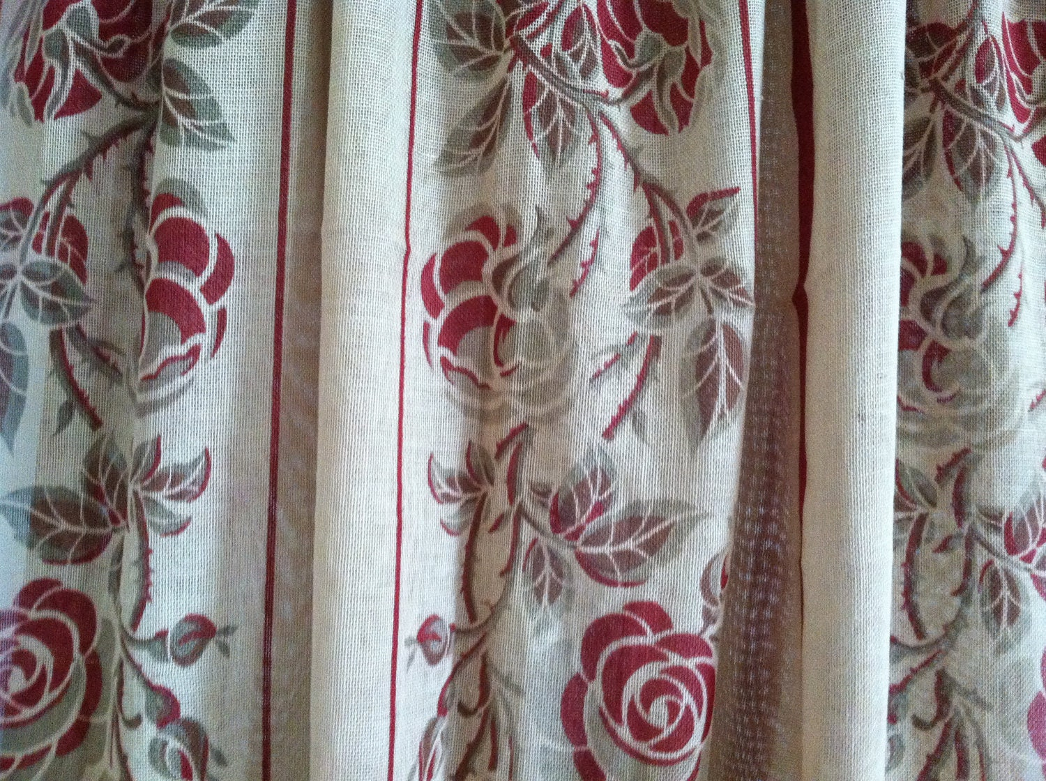 Items Similar To Arts And Crafts Movement Curtain Panel Charles Rennie Mackintosh Style Roses