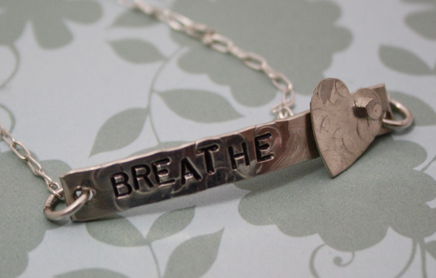 IT'S AN ORIGINAL -  ANKLET - Breathe - Hand Stamped Sterling Silver