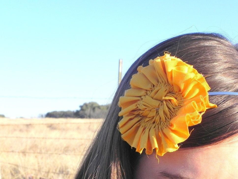 Pinwheels and Poppy Headband