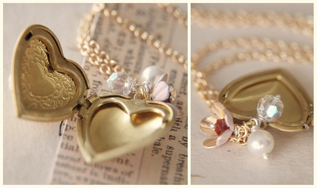 Always On His Mind. A romantic and whimsical locket necklace.