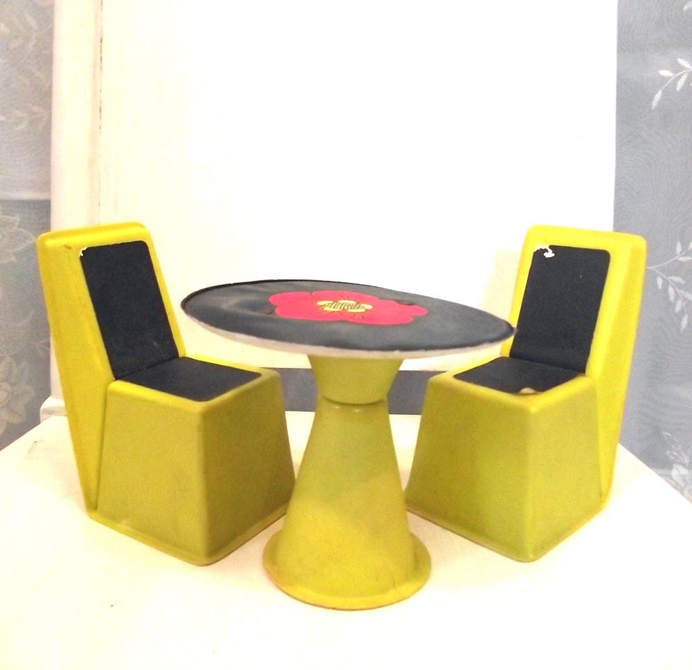Items similar to 70s barbie dollhouse furniture mid modern for Furniture 70s style
