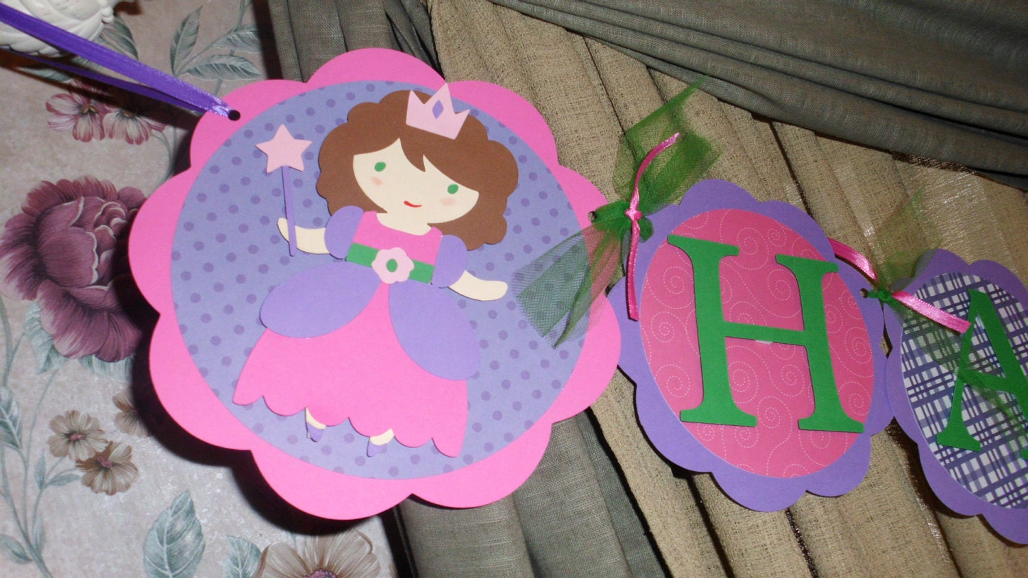 Princess Happy Birthday Banner