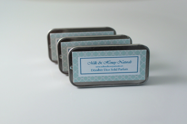 Demeter Dior Solid Parfum - handmade solid parfum with organic ingredients