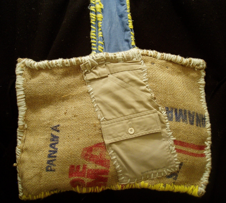 Hippie tote bag,Hippie Re-Use Purse