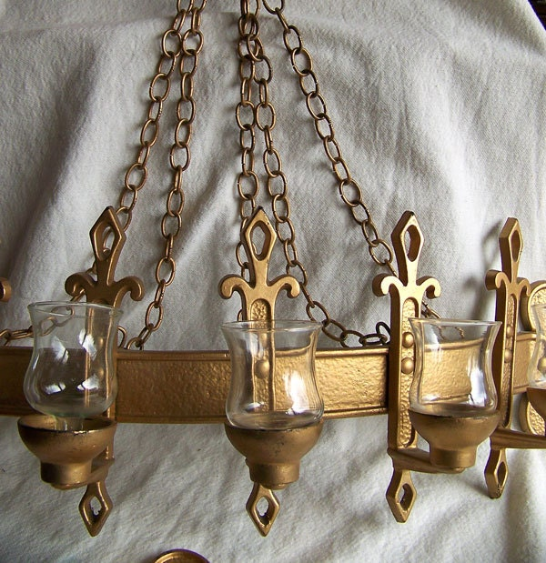 Gothic wall sconce gilt candle holder by AntiqueAddictions