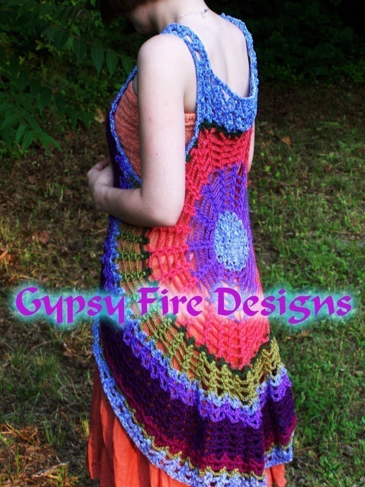 Spider Web Mandala Vest Dress PATTERN Make your by ...