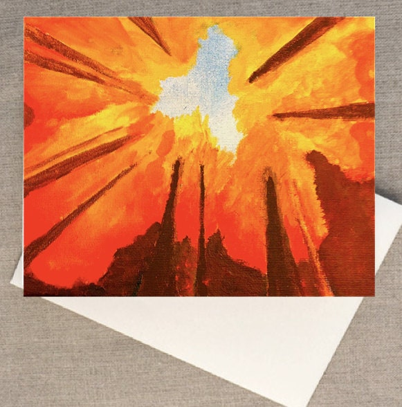 "Set of 5 Blank Greeting cards of the Painting ""Autumn Trees"" by Amanda Pennington - PenningtonArt"