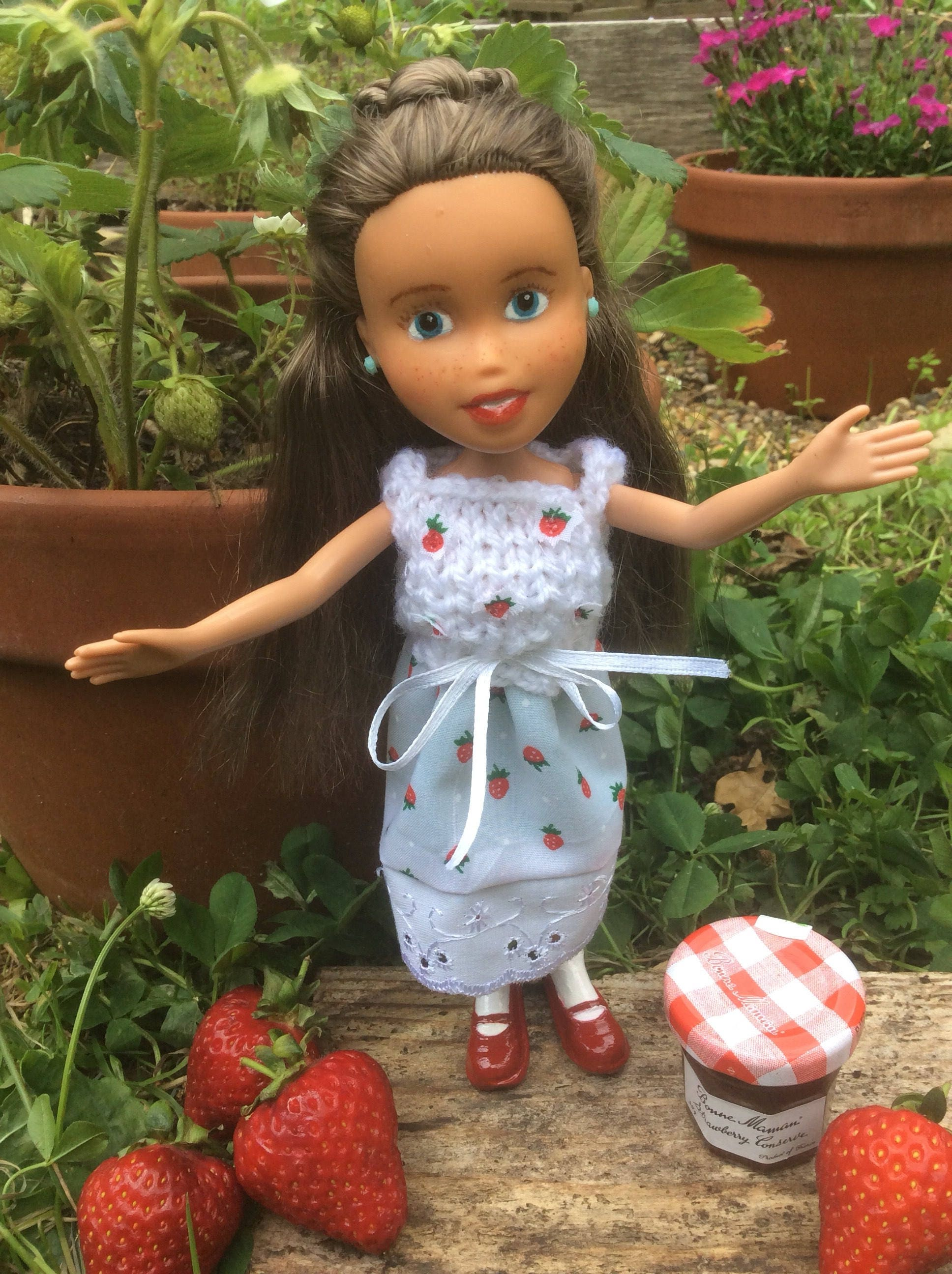 Repaint Bratz Doll Summer Strawberry OOAK Doll