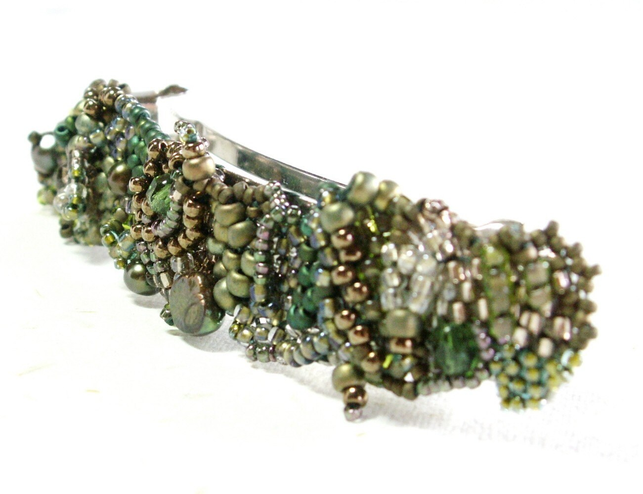 barrette beaded freeform woven