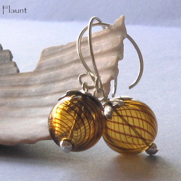 Cognac Swirl Earrings